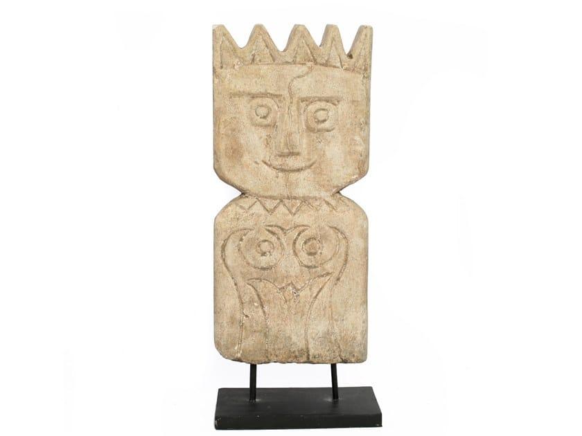 Natural stone decorative object TIMOR MAN - 5 CROWN by Bazar Bizar
