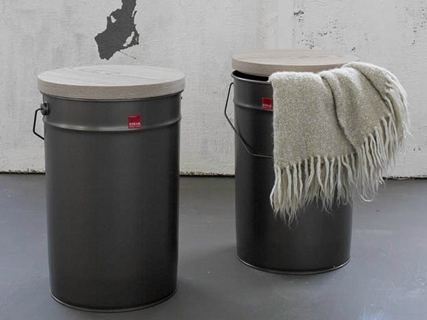 Stool with storage space TIN by Fimar