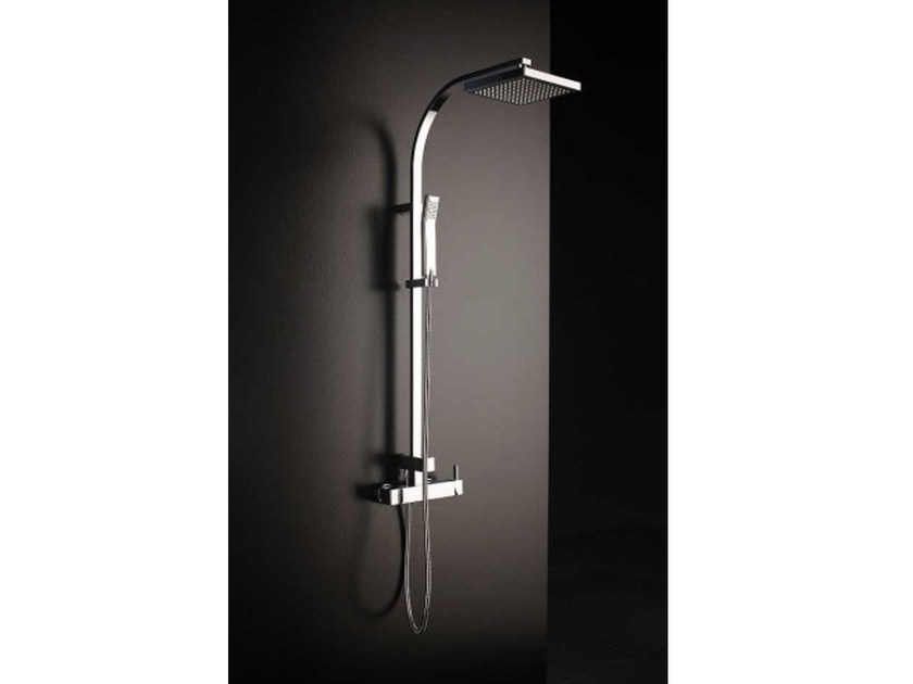Wall-mounted shower panel with hand shower TINA   Shower panel by Systempool