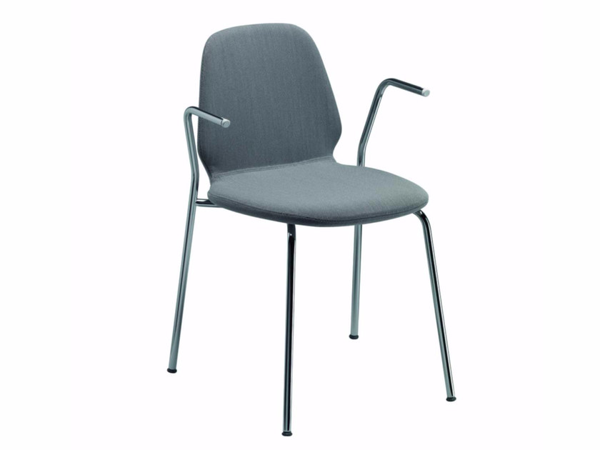 Chair with removable cover with armrests TINDARI ARM - 56H by Alias