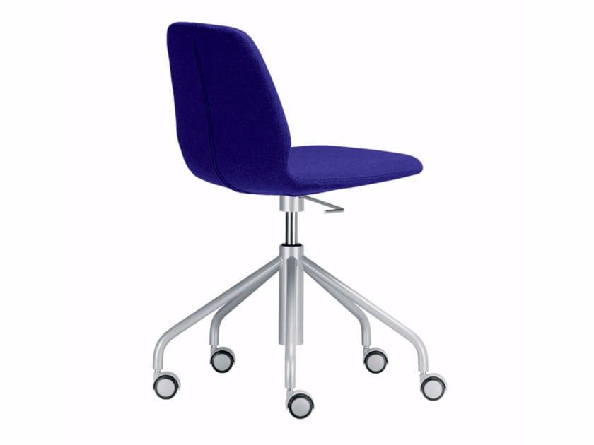 Drehbarer höhenverstellbarer Stuhl mit Rollen TINDARI STUDIO - 519 by Alias
