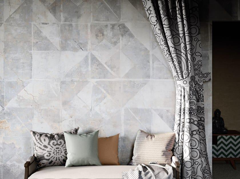 Geometric Digital printing wallpaper TINTAGEL by Tecnografica Italian Wallcoverings