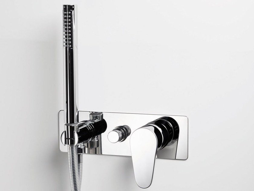 Wall-mounted bathtub mixer with hand shower TIP | Bathtub mixer by RITMONIO