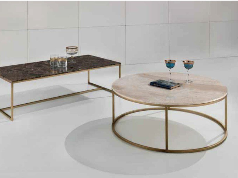 Tip Tap Brass Coffee Table Objects Collection By International Marmi