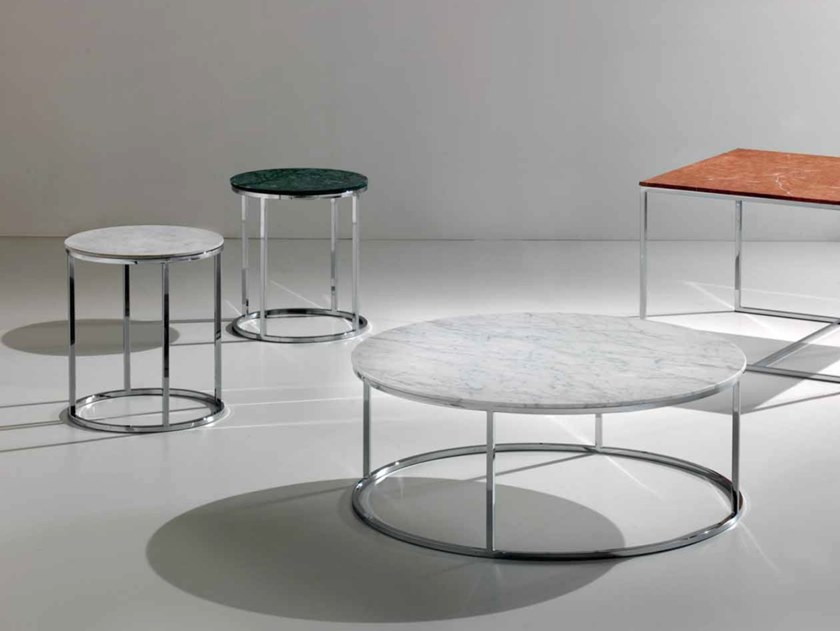 Contemporary style round steel coffee table TIP TAP | Round coffee table by International Marmi