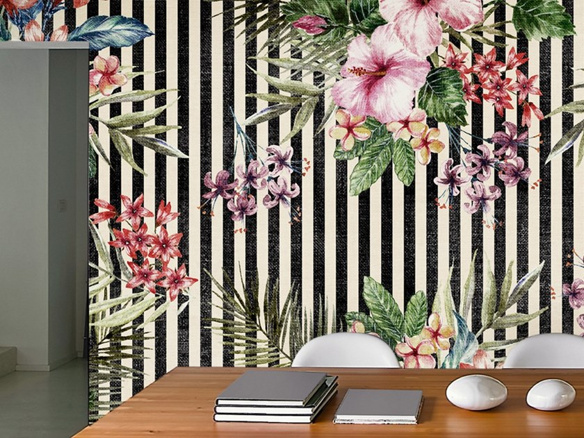 Ecological washable PVC free wallpaper TIPICAL TROPICAL by Wallpepper
