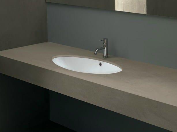 Undermount oval ceramic washbasin TIPO by Alice Ceramica