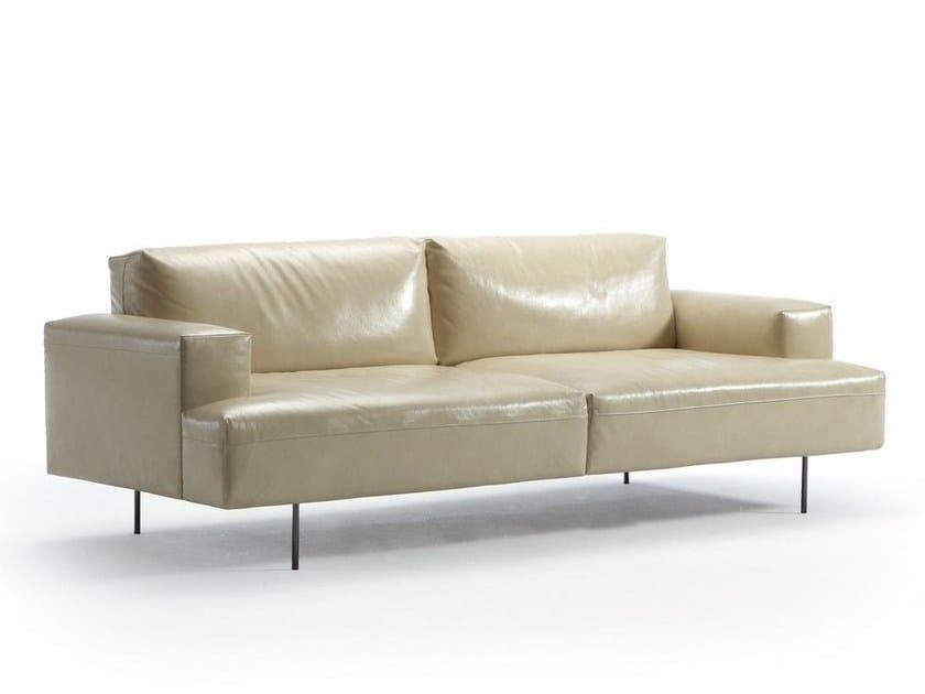 4 seater leather sofa TIPTOE | Leather sofa by Sancal