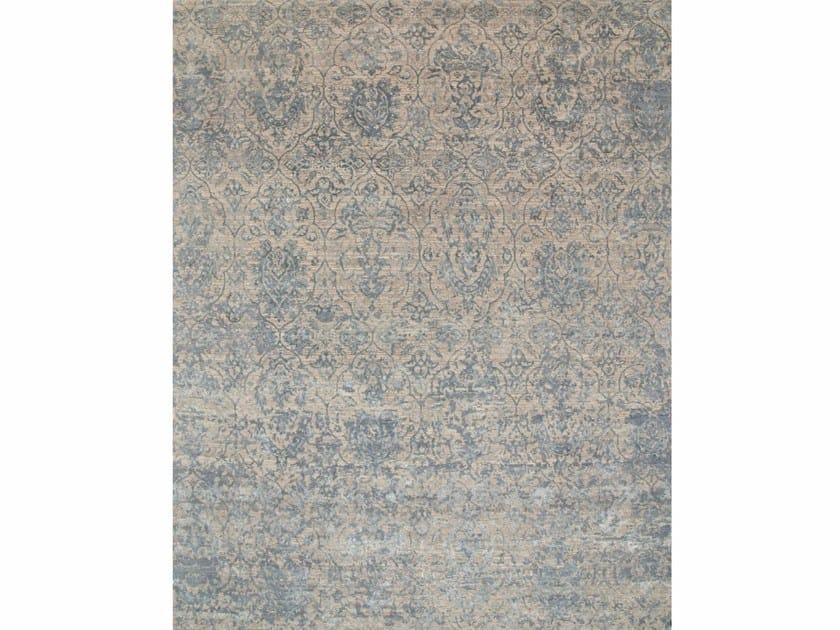 Patterned rug TIR ESK-632 Ivory/Skyline Blue by Jaipur Rugs