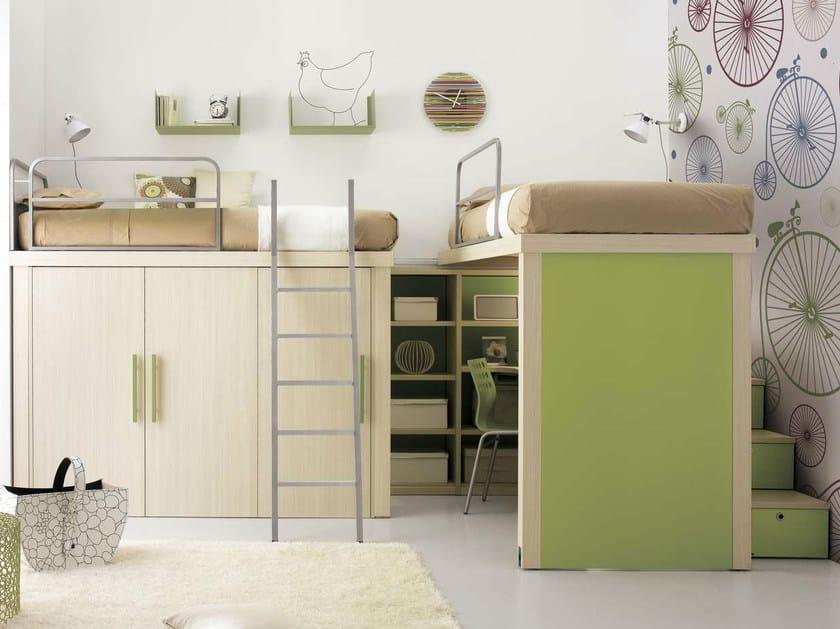 Loft teenage bedroom TIRAMOLLA 906 by TUMIDEI