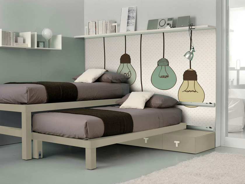 Teenage bedroom with pull-out bed TIRAMOLLA 919 by TUMIDEI