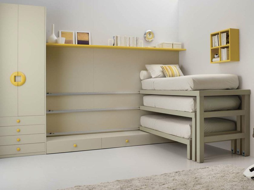 Teenage bedroom with pull-out bed TIRAMOLLA 920 BIS by TUMIDEI