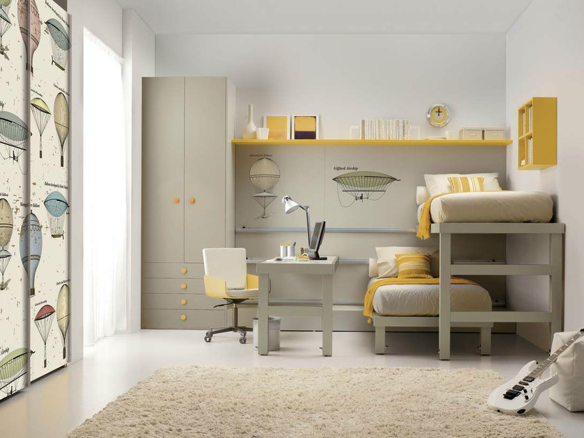 Teenage bedroom with pull-out bed TIRAMOLLA 920 by TUMIDEI