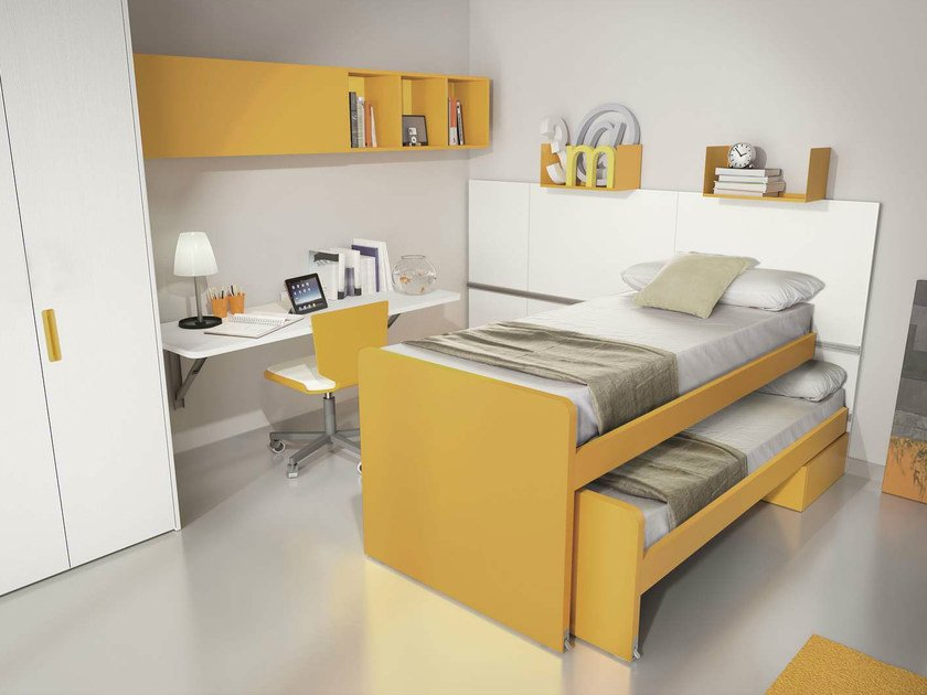 Teenage bedroom with pull-out bed TIRAMOLLA 923 by TUMIDEI