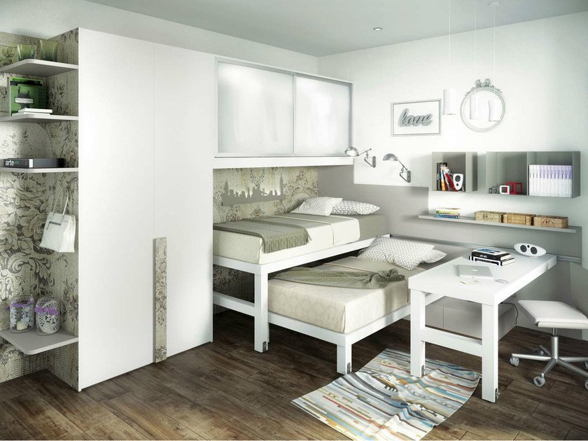 Teenage bedroom with pull-out bed TIRAMOLLA 925 by TUMIDEI