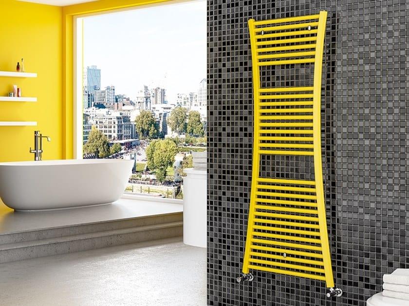Vertical wall-mounted steel towel warmer TIRE by XÒ by Metalform