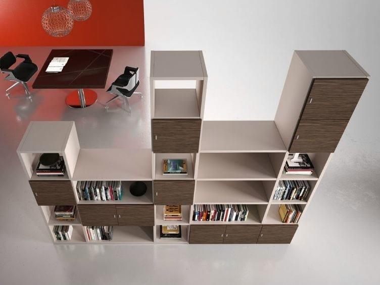 Modular wooden office shelving TITANO | Office shelving by Castellani.it