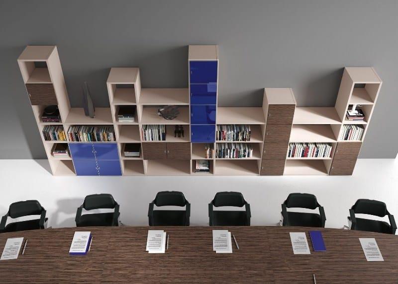 Libreria ufficio modulare in legno TITANO | Libreria ufficio by Castellani.it