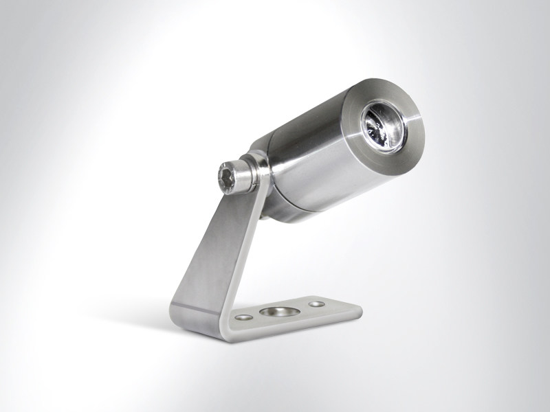 LED adjustable stainless steel Outdoor floodlight TITO 25 by Arcluce