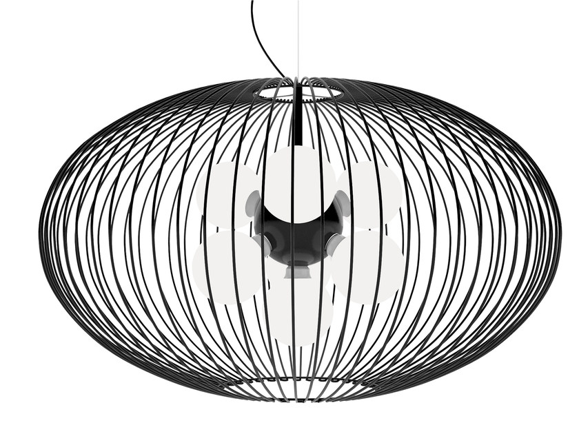 Powder coated steel pendant lamp TITTI | Pendant lamp by Gibas