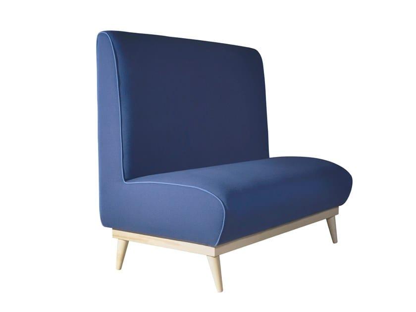 High-back fabric small sofa TIVOLI by Conceito Casa