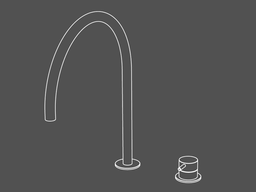 2 hole countertop stainless steel kitchen mixer tap TKI33 | Kitchen mixer tap by Radomonte