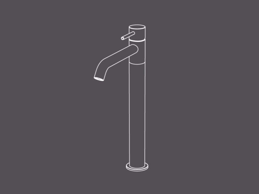 Countertop single handle stainless steel washbasin mixer TKS3 | Washbasin mixer by Radomonte
