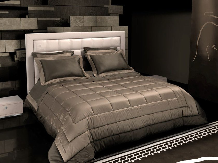 Leather storage bed with upholstered headboard TL 250 | Double bed by Tonino Lamborghini Casa