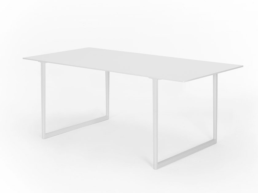 Rectangular HPL and aluminium table TOA | HPL table by Pedrali