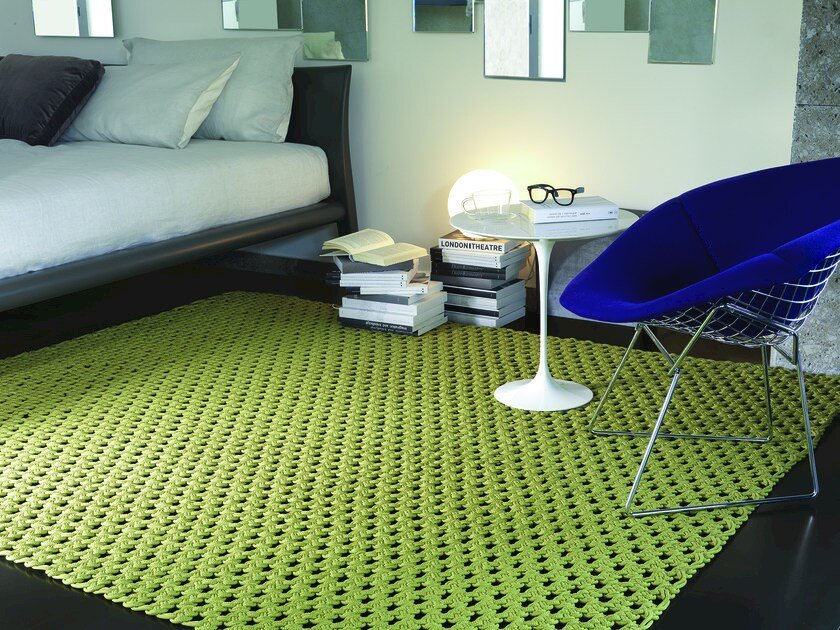 Handmade fabric rug TOBAGO by Besana Moquette