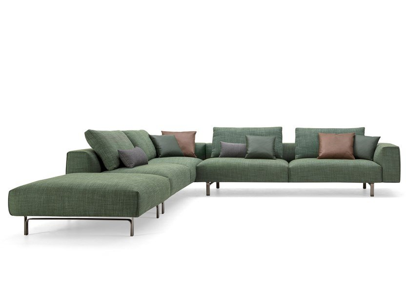 Charming Corner Sectional Fabric Sofa TODD | Fabric Sofa By Busnelli