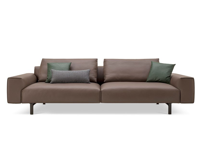 Leather Sofa TODD | Leather Waiting Room Sofa By Busnelli
