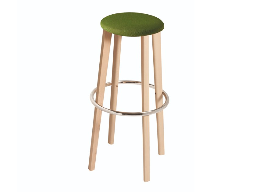High stool with integrated cushion TOE 534T by Capdell