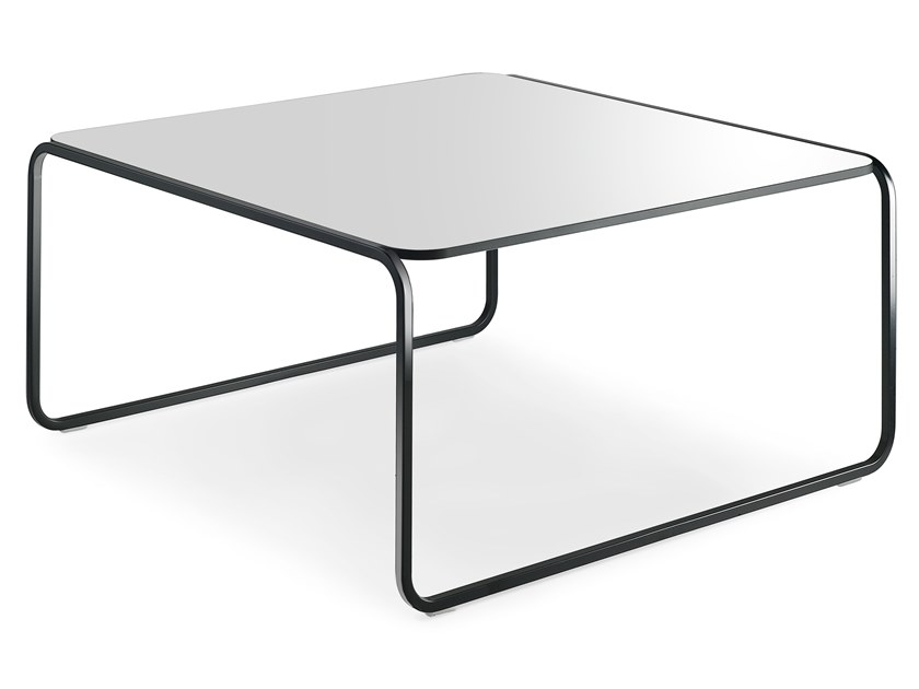 Stackable square HPL coffee table TOÉ | Square coffee table by Lapalma