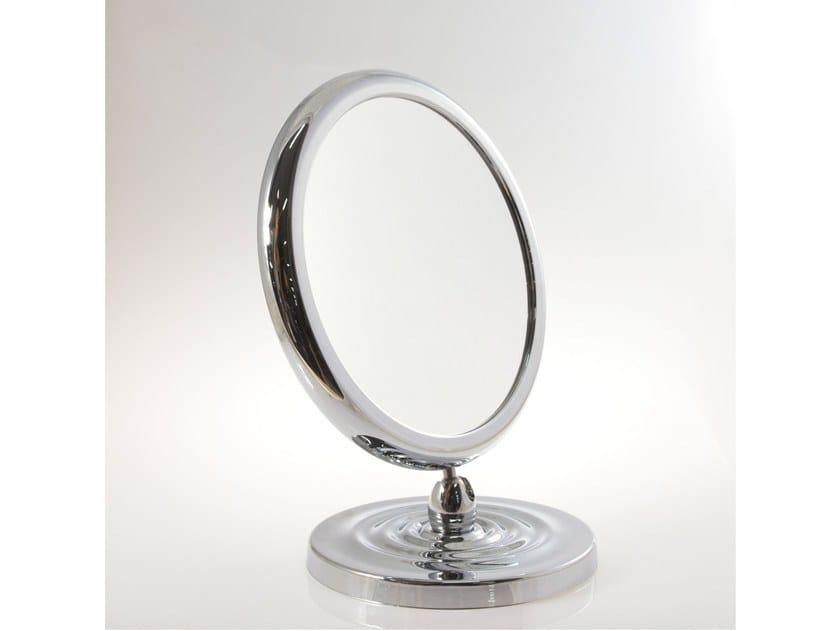 Specchio ingranditore bifacciale da tavolo con base toeletta