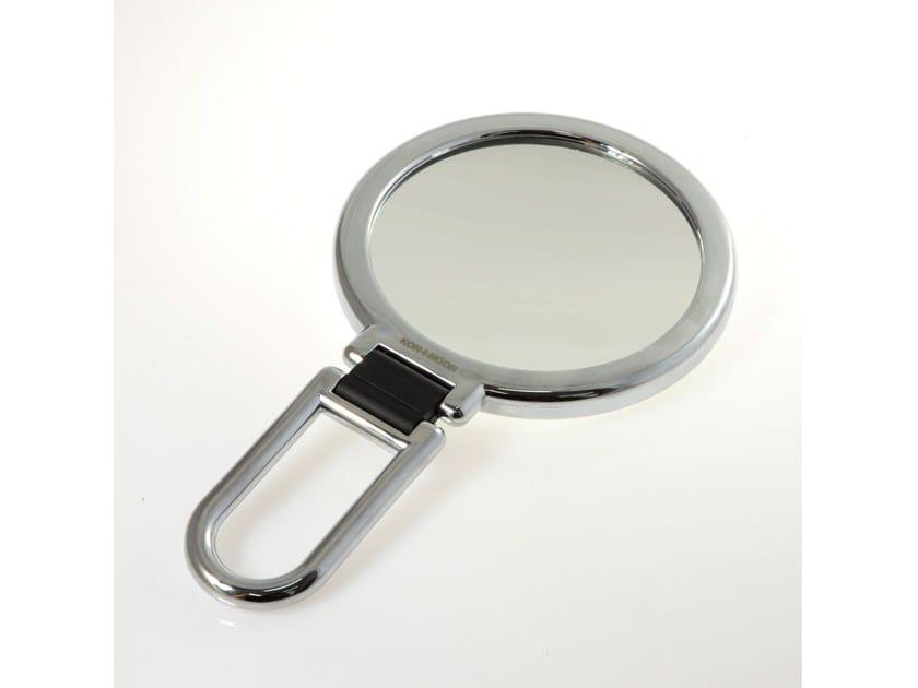 Specchio ingranditore bifacciale con manico pieghevole toeletta
