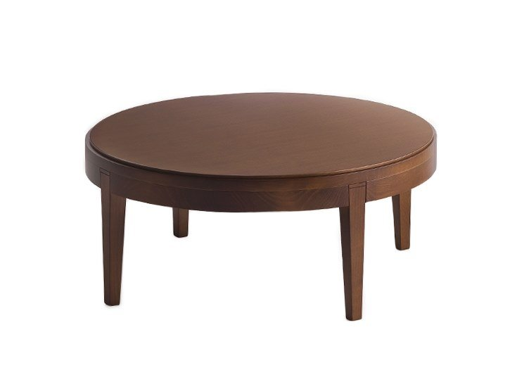 Low round coffee table TOFFEE 881 by Montbel