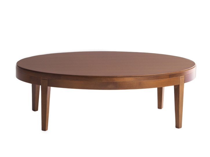 Low oval coffee table TOFFEE 882 by Montbel
