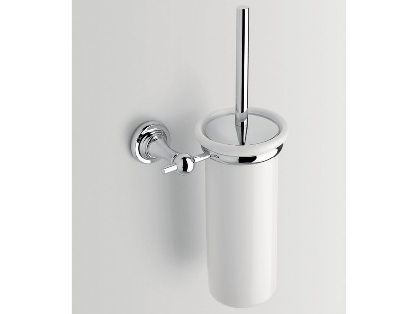 Wall-mounted ceramic toilet brush SHINING | Toilet brush by BATH&BATH