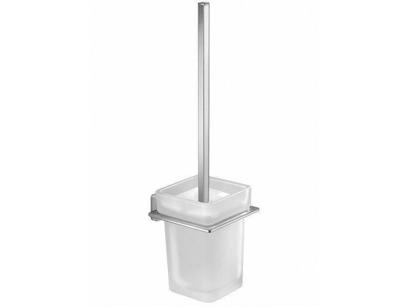 Wall-mounted glass toilet brush ATENA | Toilet brush by GEDY