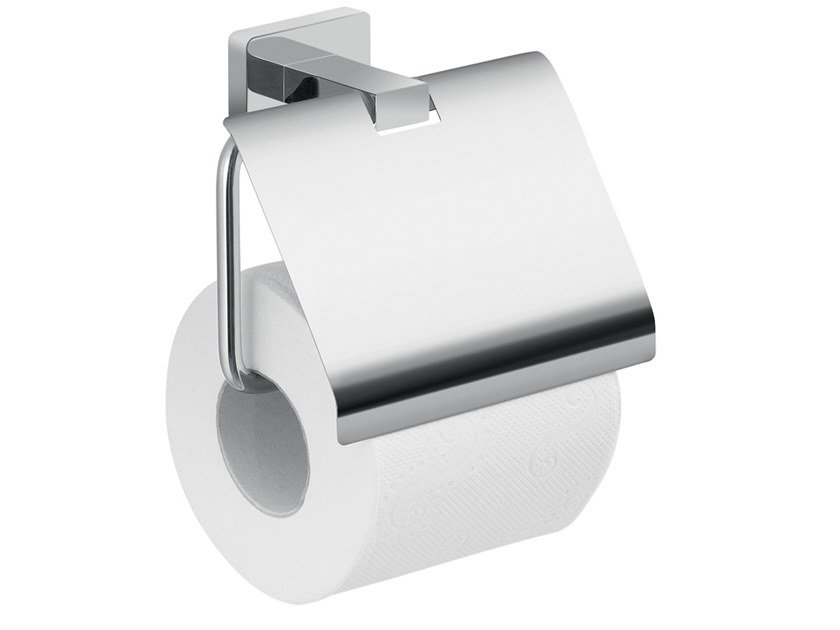 Stainless steel toilet roll holder with cover ATENA | Toilet roll holder with cover by GEDY