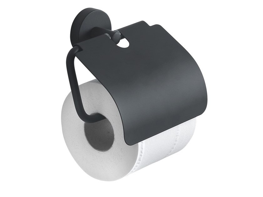 Toilet roll holder with cover EROS | Toilet roll holder with cover by GEDY