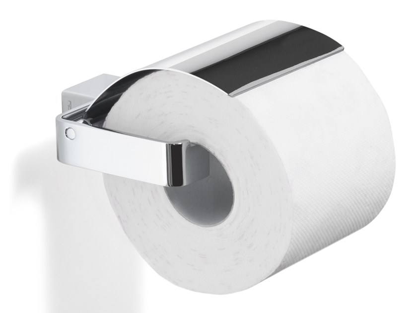 Metal toilet roll holder with cover LOUNGE | Toilet roll holder with cover by GEDY