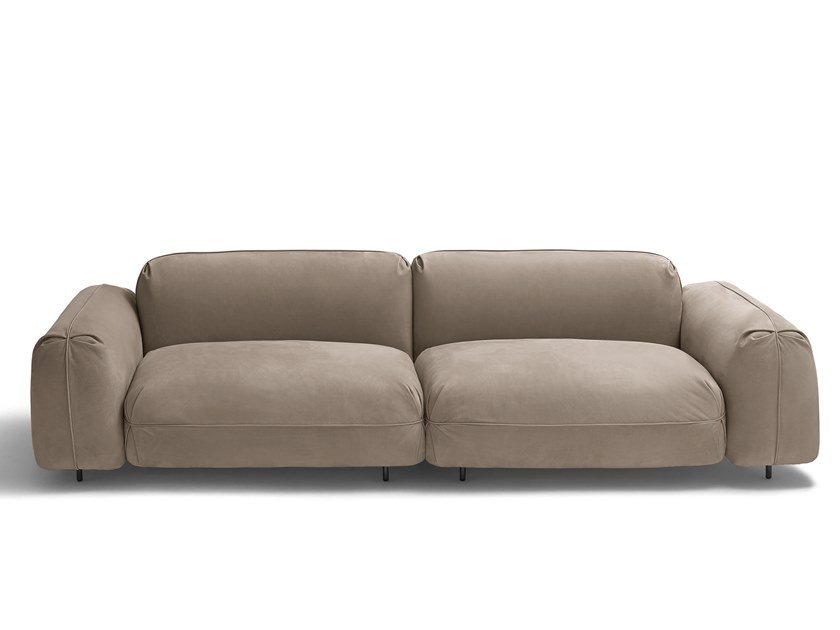 Sectional modular leather sofa TOKIO SOFT by arflex