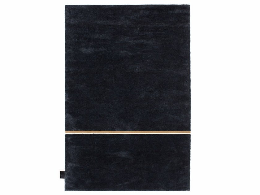 Solid-color rectangular viscose and wool rug TOKYO TAXI | Rug by ASPLUND
