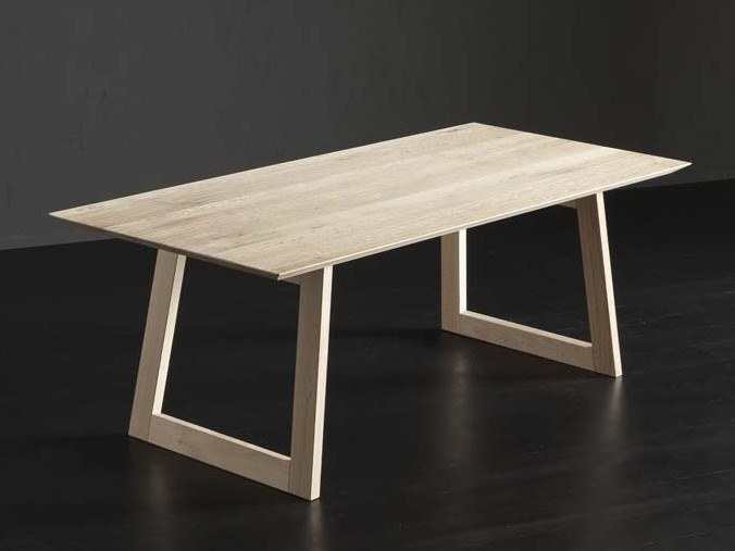 Rectangular wooden dining table TOLEDO + FLAT by AltaCorte