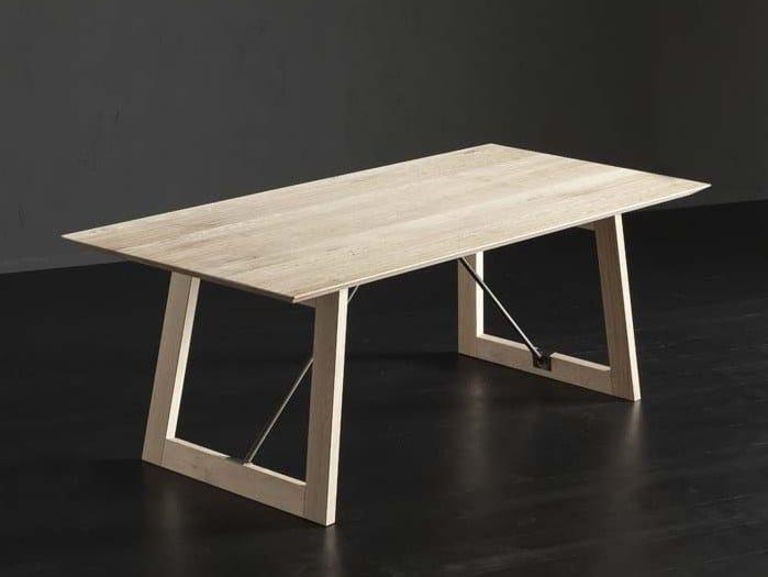 Rectangular wooden dining table TOLEDO + FLAT/TIRANTI by AltaCorte