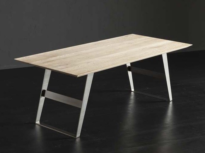 Rectangular wooden dining table TOLEDO + IRON by AltaCorte