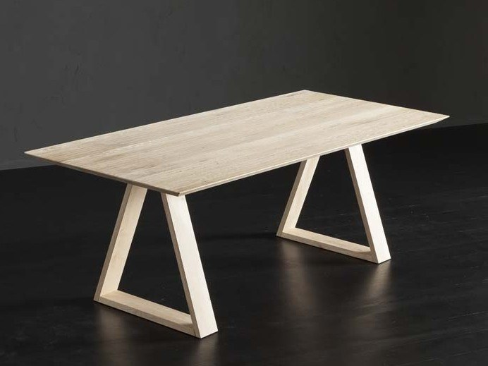 Rectangular wooden dining table TOLEDO + MEKANO by AltaCorte