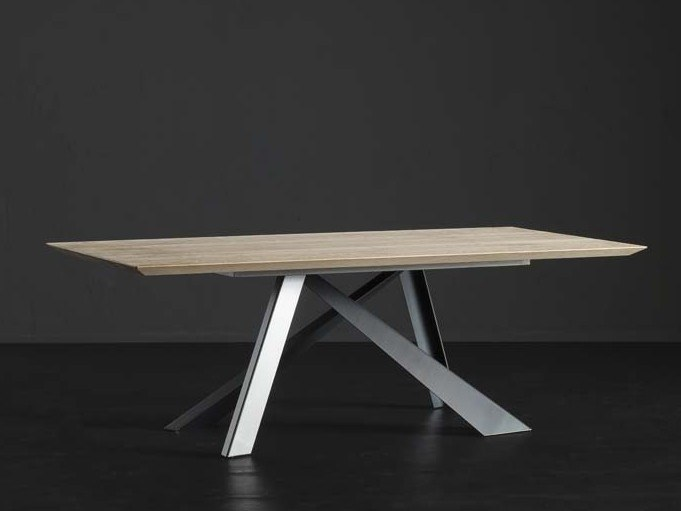 Rectangular wooden dining table TOLEDO + METAL by AltaCorte